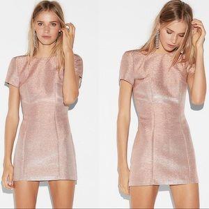 Express Rose Gold Sheath Mini Dress